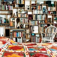 bookshelves-bed