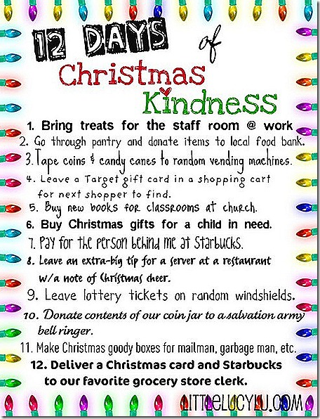 Christmas kindness-12 days