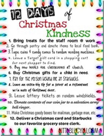 Christmas-12 days of kindness