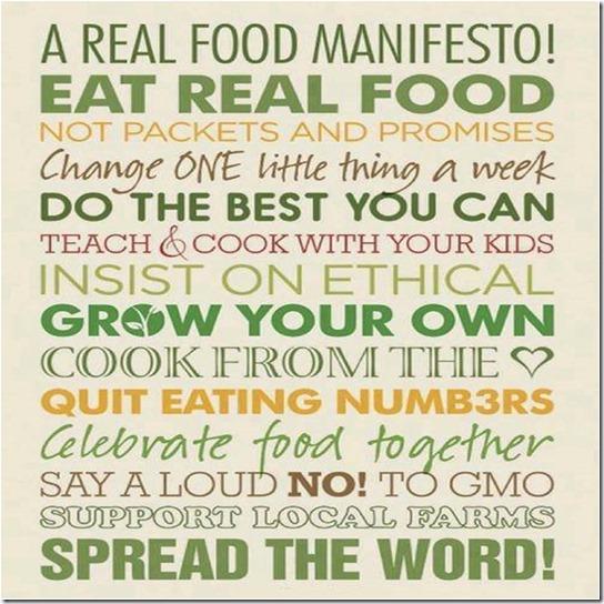 real food-manifesto